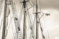 Mast and sailboat rigging Royalty Free Stock Photo