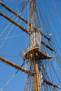 Mast sailing ship Stock Photography