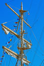 Mast of a Sailing Ship Royalty Free Stock Photo
