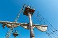 Mast of the sailing ship old Royalty Free Stock Photos