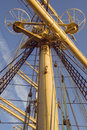 Mast of a tall ship Royalty Free Stock Images