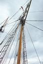Mast of a tall  ship Royalty Free Stock Photo