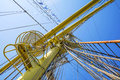 Mast of tall ship in a sunny day Royalty Free Stock Photo