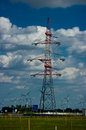The mast for transmission of high voltage electricity Stock Photography