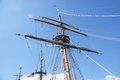 Mast, yardarms, rigging and sails Royalty Free Stock Image