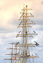 Masted sailing ship Royalty Free Stock Images