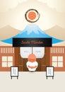 Master japanese sushi welcome Royalty Free Stock Photo