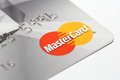 Mastercard logo on credit card Royalty Free Stock Photo