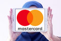 Mastercard logo Royalty Free Stock Photo