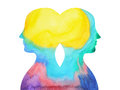 Mastermind, chakra power, inspiration abstract thought together, world universe inside your mind