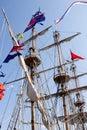 Masts of a sailing ship Royalty Free Stock Photo