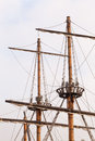 Masts of a pirate ship high Royalty Free Stock Photo