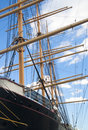 Masts of a sailing ship Stock Image