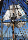 Masts, sails and rigging Stock Photos