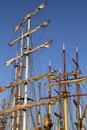 Masts on several tall ships Royalty Free Stock Photo