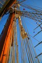 Masts and sky Royalty Free Stock Photo