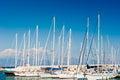 Masts of yachts Royalty Free Stock Photo
