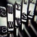 Maszyna do pisania szczegół Zdjęcia Royalty Free