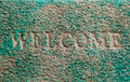 Mat green color letter welcome