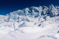 Matanuska glacier after snow storm is beautiful under the blue sky in a bright day Royalty Free Stock Image