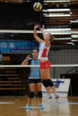 Match de volley de Kaposvar-Veszprem Photographie stock libre de droits