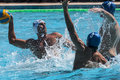 Match de waterpolo Photos libres de droits