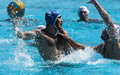Match de waterpolo Images libres de droits