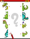 Match the halves of dragons