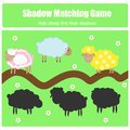 Match the shadow children game for kids find right task Stock Photos