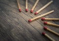 match standing out from matches leadership concept, Individualit Royalty Free Stock Photo