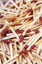 Match sticks with brown heads in a row. Fire Matches texture pattern concept. Stacked matches as background Royalty Free Stock Photo