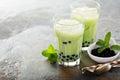 Matcha bubble tea Royalty Free Stock Photo