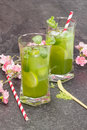 Matcha Mint Iced Tea Royalty Free Stock Photo