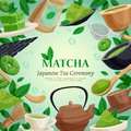 Matcha Tea Ceremony Background Poster