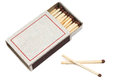 Matchbox matches in a it is isolated on a white background Royalty Free Stock Image