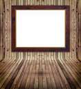 Matched pine plank interrior and frame Royalty Free Stock Photos