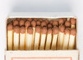 Matches in the box Stock Photography