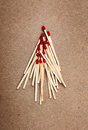Matches on a brown background template Royalty Free Stock Image