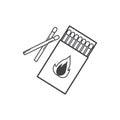 Matches , burned match icon
