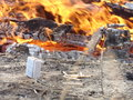 Matches and fire Royalty Free Stock Photo