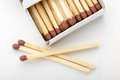 Matches and Matchbox Royalty Free Stock Photo