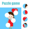 Matching children educational game. Match pieces and complete the picture. Puzzle kids activity.