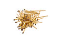 Matchstick group of on white Stock Images