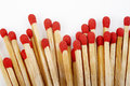 Matchstick heap on white background Stock Image