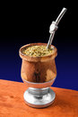 Mate cup a of traditional argentinian Royalty Free Stock Image
