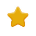 Mate Yellow Star Royalty Free Stock Photo