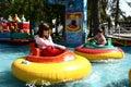 Matejska fair - bumping boat Stock Photos