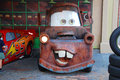 Mater from cars is is posing for pictures in disney s hollywood studios orlando florida Stock Photography