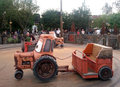 Mater s junkyard jamboree ride at disney s california adventure with little tractors is in disneyland park amusement park is based Stock Photos