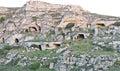 Matera cave dwellings in basilicata Stock Photos